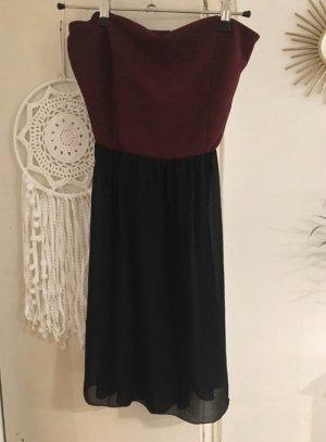 Subdued Mini Dress black-dark red