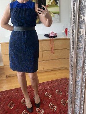Akris punto Sukienka etui czarny-niebieski