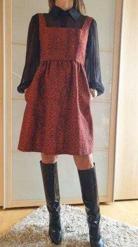 Robe Babydoll noir-rouge brique