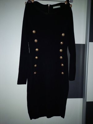 Allyson Robe en laine noir