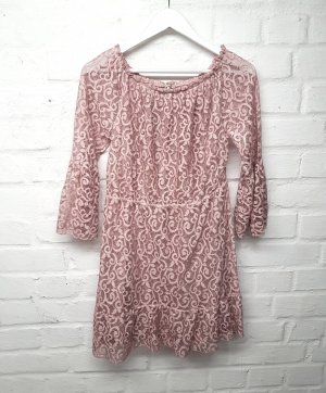 Kleid Altrosa Rosa Spitze Seamlessfashion Gr. M/ 38