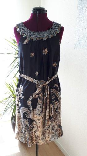 Ana Alcazar Robe à paillettes noir-bronze