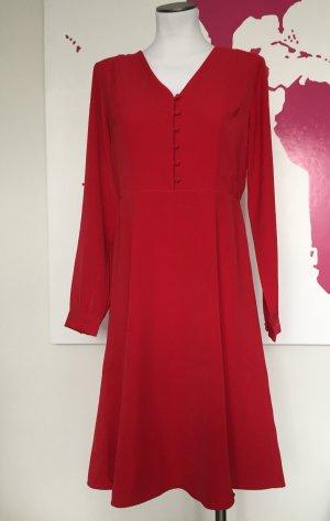 Ann Taylor Vestido a media pierna rojo