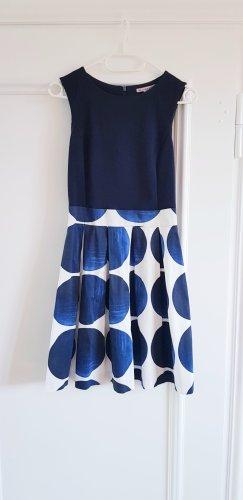 Anna Field A-lijn jurk wit-donkerblauw