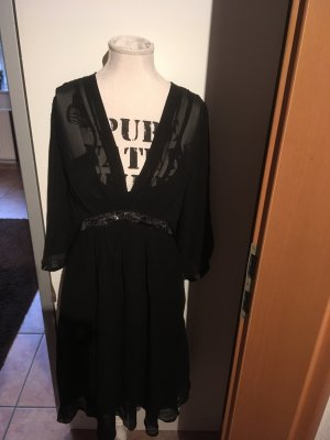 Anne L. Chiffon Dress black