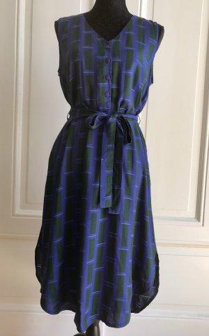 Anthropologie Sukienka midi ciemny fiolet-leśna zieleń