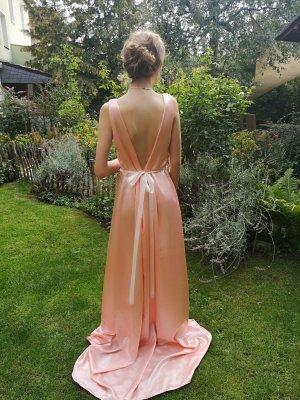 Vestido de novia nude Seda