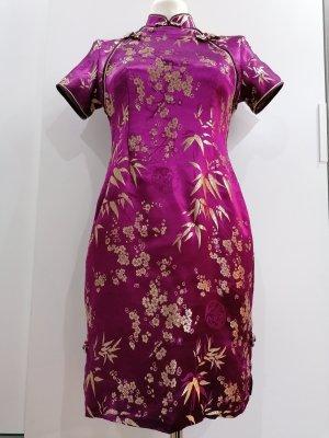 Sukienka tunika złoto-fioletowy