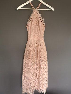 Asos Vestido de baile rosa poliamida