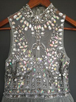 Asos Vestido de baile color plata Poliéster