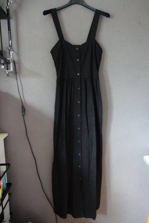 Kleid, Asos, schwarz, Maxikleid, Maxi, Leinen, Knöpfe, Trägerkleid