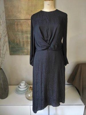 Mango Longsleeve Dress black polyester
