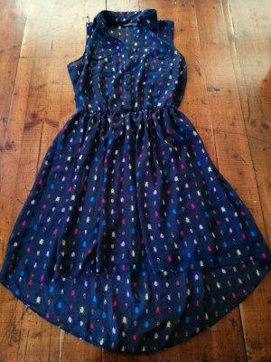 Kleid Atmosphere Gr. 34, dunkelblau, Rockabilly