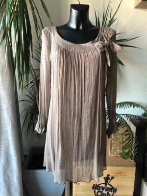 Kleid aus 100% Seide mit Schleife Gr. 38/40