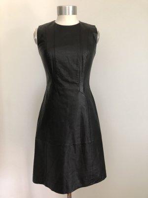 Hugo Boss Vestido de cuero negro Cuero