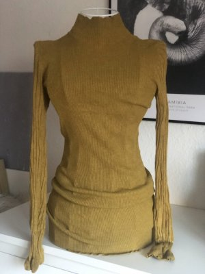 Amisu Gebreide jurk oker
