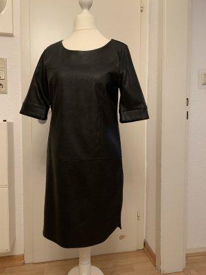 Vila Leren jurk zwart