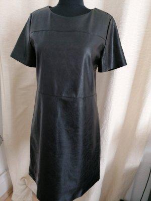Opus Skórzana sukienka czarny