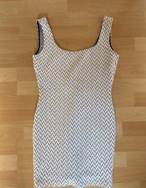 Mango Ołówkowa sukienka czarny-biały
