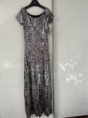 Kleid aus Pailletten silbern Carmen Stretch