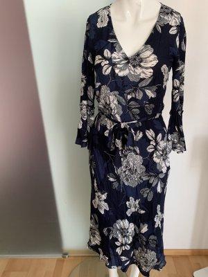 Kleid aus Paris Gr 34 36 XS Blumen Print
