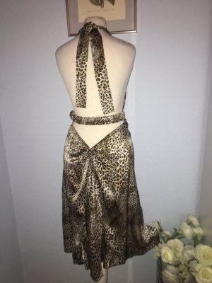Kleid aus reiner Seide mit Leopardenmuster