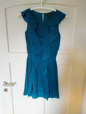 Warehouse Robe courte bleu pétrole
