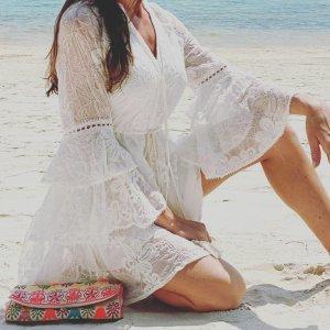 Kleid aus sehr feiner Spitze wie Zimmermann Boho Bohemian Ibiza boohoo Hochzeit Wedding