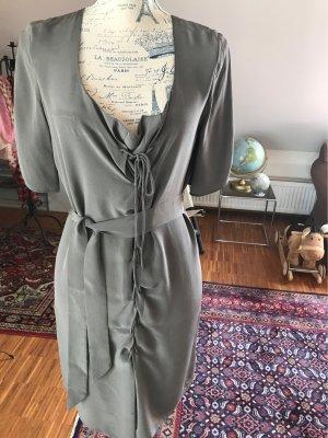 Kleid aus Seide, graubraun/taupe