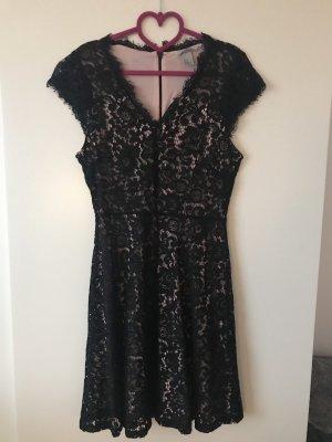 H&M Kanten jurk zwart-lichtroze