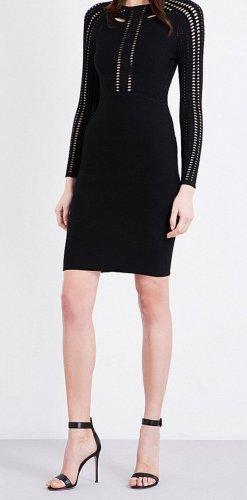 Maje Cut Out Dress black