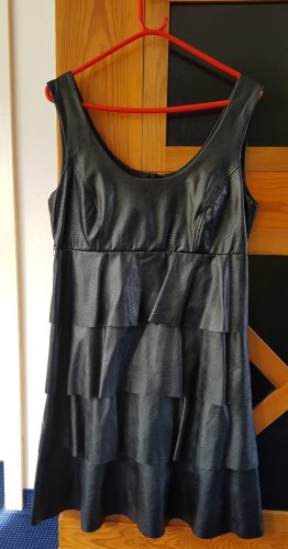 Rinascimento Leather Dress black