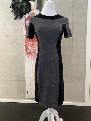 Allude Mini Dress black-silver-colored wool