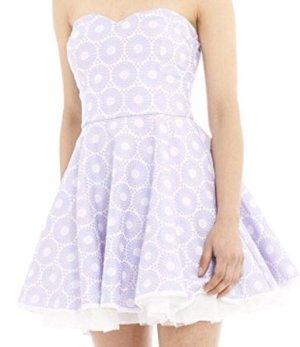 AX Paris Robe courte blanc-violet