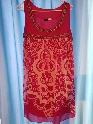 Bodyflirt A-lijn jurk wit-roze