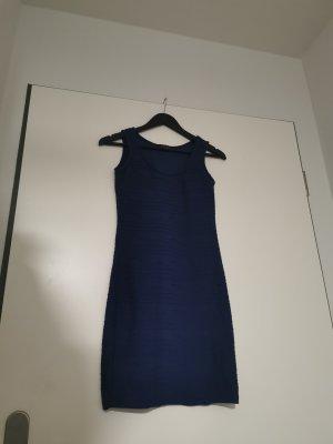Amisu Robe trapèze bleu acier