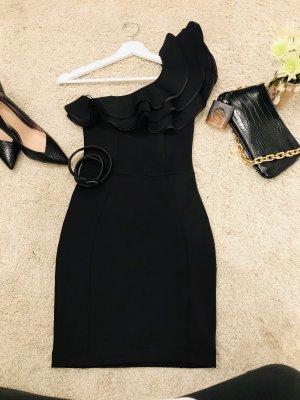 Jane norman Robe asymétrique noir polyester