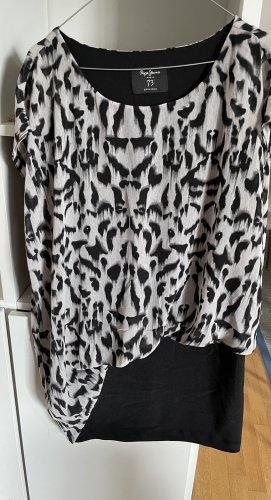 Pepe Jeans Suknia wieczorowa biały-czarny