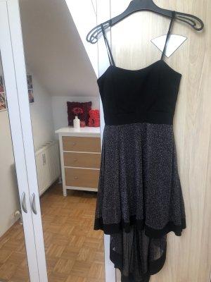 Robe bas asymétrique noir-argenté