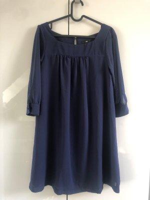 H&M Chiffon jurk donkerblauw