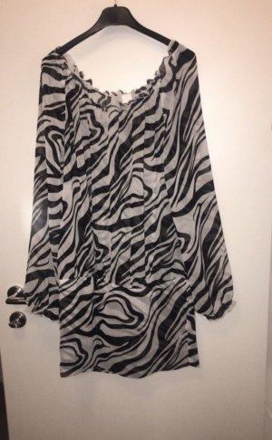 Sweater Dress black-white