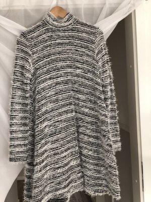 Asos Vestito di lana nero-bianco Tessuto misto
