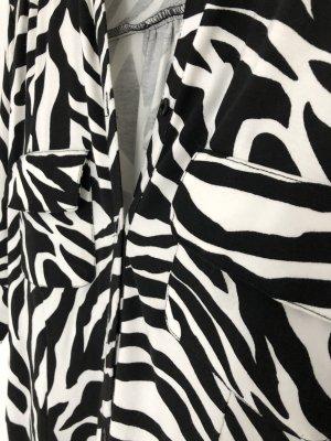 H&M Sukienka o kroju litery A biały-czarny Poliester