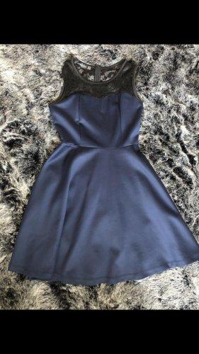 Vestido de baile azul oscuro-negro