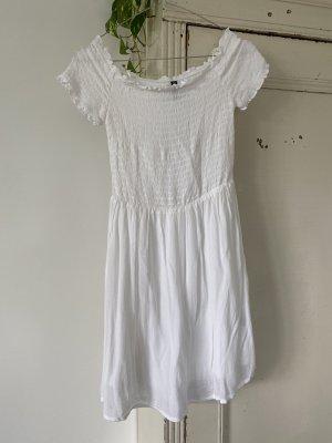 H&M Sukienka bez ramiączek biały