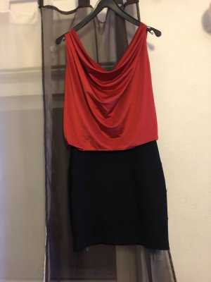 Stretch Dress black-red