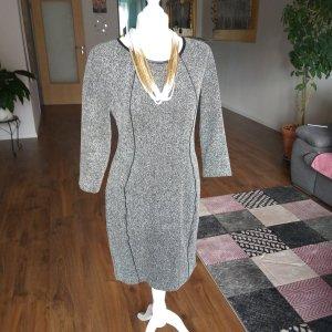 Vestido de tela de jersey blanco-gris oscuro