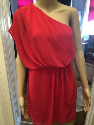 Amisu One Shoulder Dress red