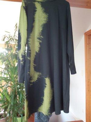 b.p.c. Bonprix Collection Abito jersey nero-verde prato