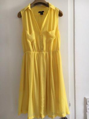 H&M Szyfonowa sukienka żółty neonowy
